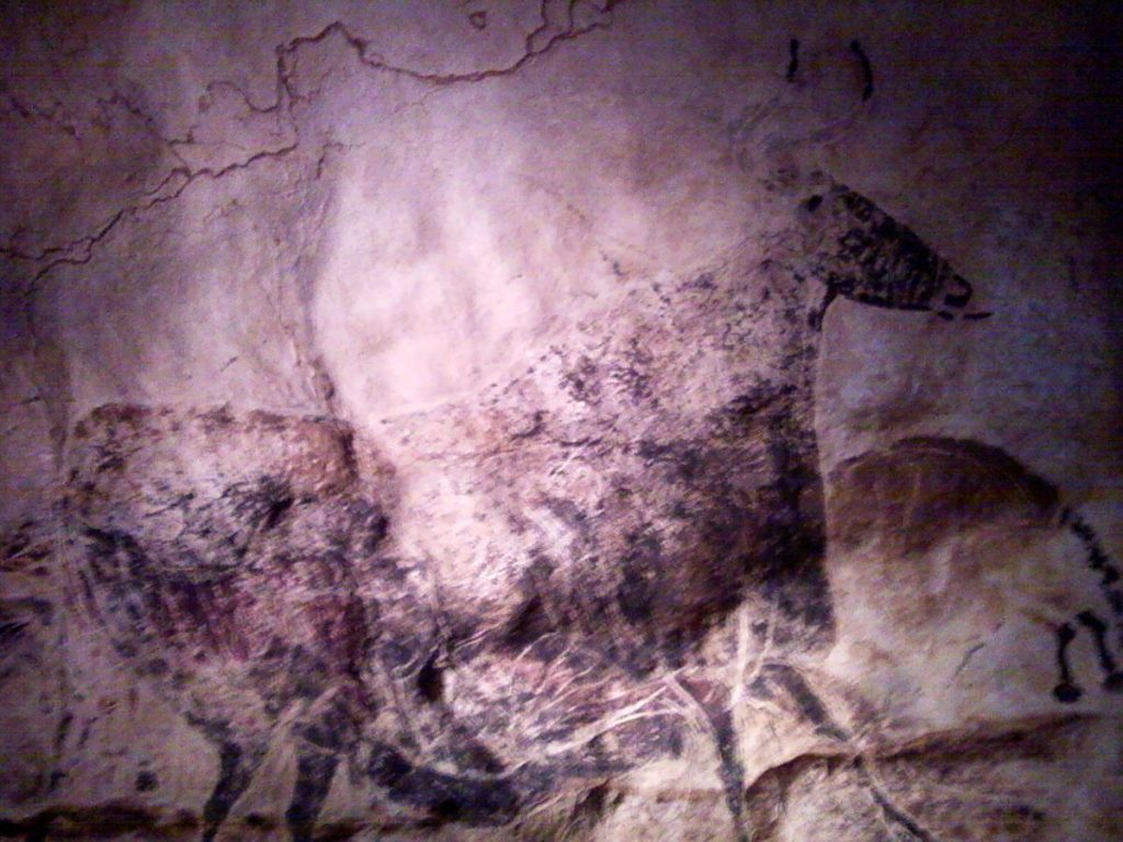 Image from the Lascaux Caves exhibit at HMNS